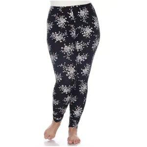 White Mark Women's Daisey Printed Leggings